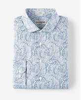 Express fitted paisley print liberty fabric cotton dress shirt