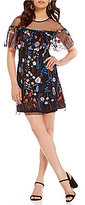 Gianni Bini Tonny Floral Embroidered Sheath Dress