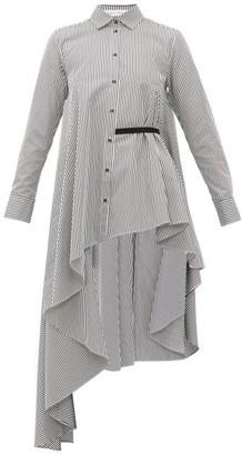 Palmer Harding Palmer//harding - Super Asymmetric Cotton-poplin Shirt - Black White