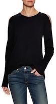 Cashmere Cold Shoulder Crewneck Sweater
