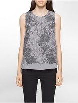 Calvin Klein Heathered Lace Sleeveless Top