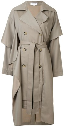 Enfold Asymmetric Loose-Fit Trench Coat