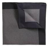 Hugo Boss Pocket Square 33 x 33 Reversible Silk Pocket Square One Size Black