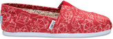 Toms Red Canvas Geometry Women's Classics