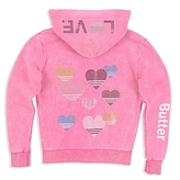Butter Shoes Girls' Sparkle-Embellished Love Hoodie - Little Kid
