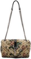 Saint Laurent Medium Floral Tapestry Monogram Chain Bag