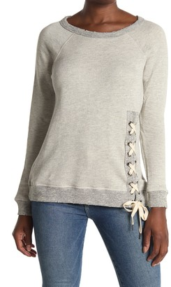Workshop French Terry Side Lace-Up Sweater