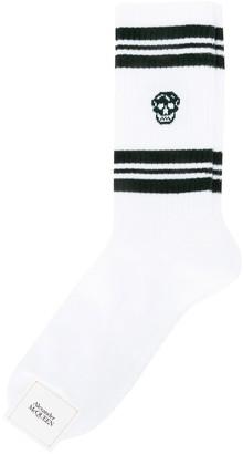 Alexander McQueen Logo Striped Socks