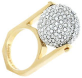 Louise et Cie Goldtone Spinning Pave Ball Ring