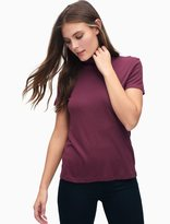Splendid Slub 1X1 Fitted Turtleneck Tee
