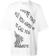 Y-3 slogan T-shirt - men - Cotton - S