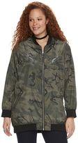 Rock & Republic Plus Size Camo Bomber Jacket