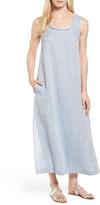 Caslon Stripe Linen Maxi Dress (Regular & Petite)