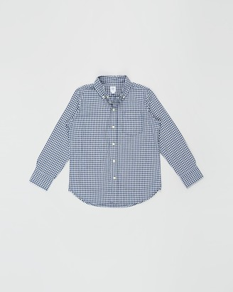Gapkids Long Sleeve Gingham Poplin Shirt - Teens