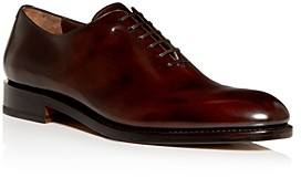 Salvatore Ferragamo Men's Angiolo Leather Plain-Toe Oxfords