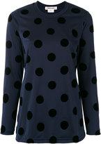Comme des Garcons polka dot blouse - women - Polyester - S