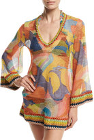 Missoni Paisley Bell-Sleeve Tunic Coverup
