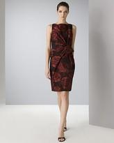 Anne Klein Dress Women's Sleeveless Rose Taffeta Sheath Dress