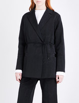 Protagonist Self-tie wrap-over woven jacket