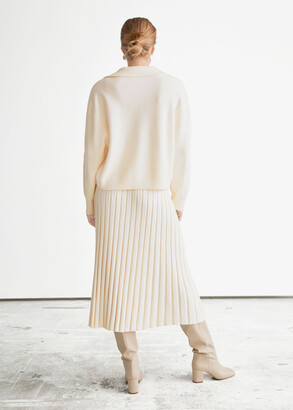 And other stories Rib Knit Midi Skirt