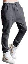 Lookatool Men Boy Harem Baggy Hip Hop Dance Sport Sweat Pants Slacks Trousers (, L)