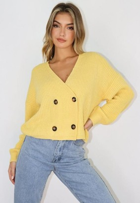 Missguided Double Breasted Knitted Cardigan