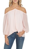 1 STATE Women's 1.state Off The Shoulder Sheer Chiffon Blouse