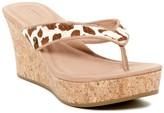 UGG Natassia Genuine Calf Hair Platform Wedge Sandal