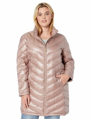 Calvin Klein Womens Plus-Size Quilted Packable Down Coat Jacket