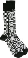 Haider Ackermann printed socks - men - Silk - S