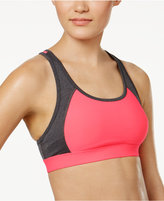 Ideology Colorblocked Ladder-Back Mid-Impact Sports Bra, Only at Macy's