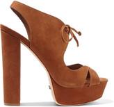 Schutz Jorie lace-up nubuck sandals