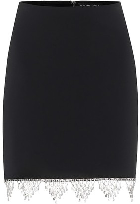 David Koma Exclusive to Mytheresa Embellished cady miniskirt