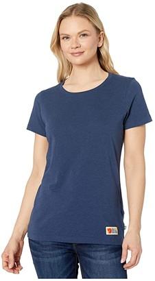 Fjallraven Vardag T-Shirt (Navy) Women's Clothing
