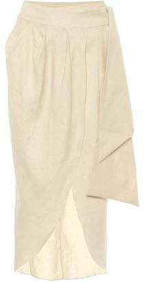 Johanna Ortiz Map Reader linen wrap skirt