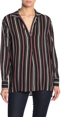 Lush Stripe Woven Blouse