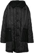 Ann Demeulemeester oversized padded coat - men - Nylon/Polyester/Wool - XXS