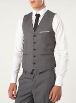 Topman Mid Grey Up Spec Vest