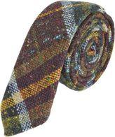 Barneys New York Multicolored Check Tweed Tie