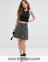 Asos Skater Skirt with Pockets in Ditsy Print