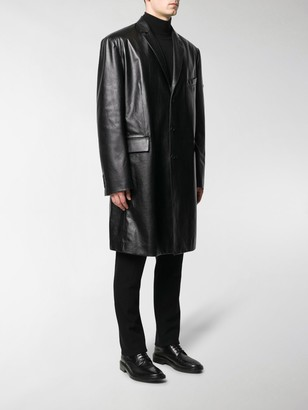 Balenciaga Long Leather Coat