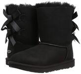 UGG Bailey Bow II (Little Kid/Big Kid) (Black) Girls Shoes