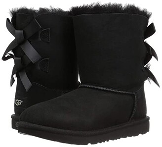 Ugg Kids Bailey Bow II (Little Kid/Big Kid) (Black) Girls Shoes