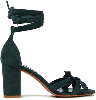 Zimmermann Bow-detailed Suede Sandals