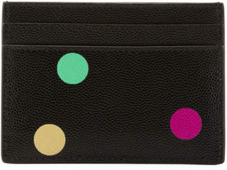 Saint Laurent Polka-Dot Flat Card Case