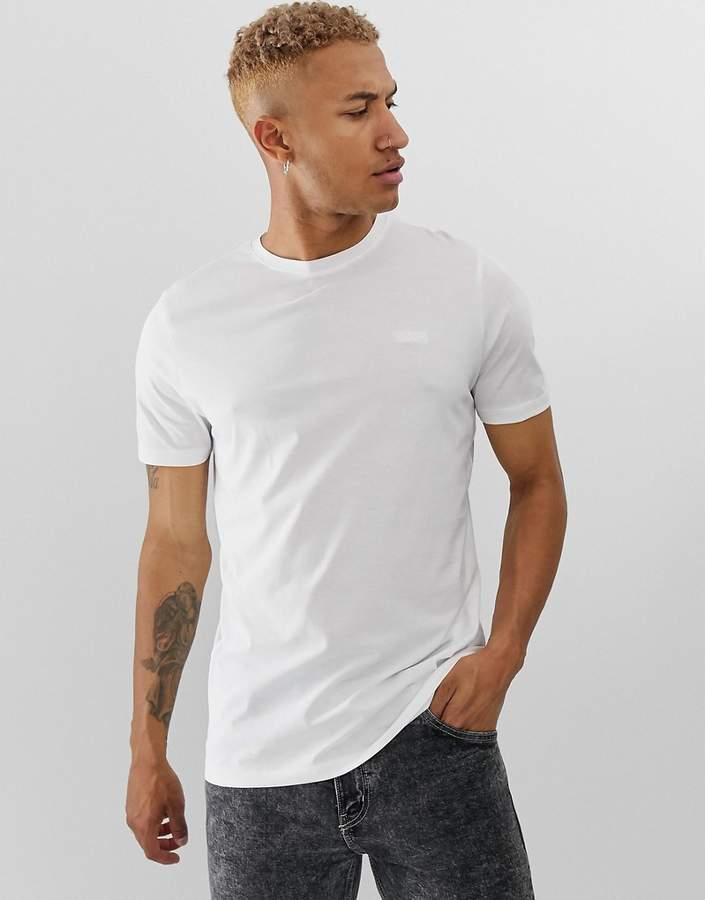 HUGO Dero embroidered chest logo t-shirt in white