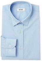 Moschino Light Blue Solid Tone Slim Fit Dress Shirt