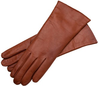 1861 Glove Manufactory Marsala - Women's Minimalist Leather Gloves In Brown Nappa Leather