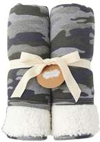 Mud Pie Camo Fleece Blanket