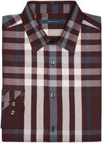 Perry Ellis Explosive Symmetric Plaid Shirt